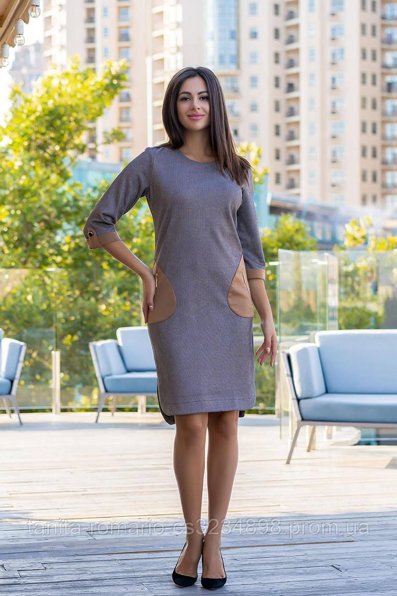 Повседневное платье 8142e Чёрный L(р)
