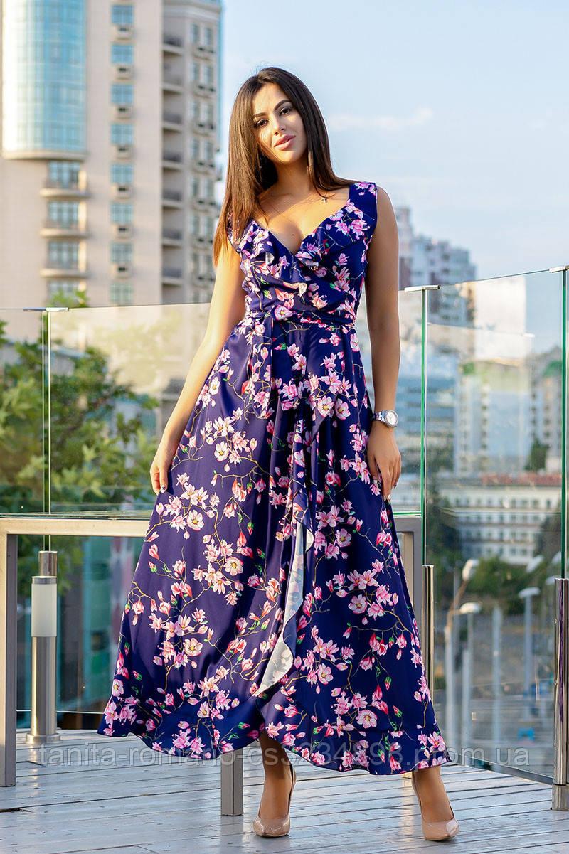 Повседневное платье 9148e Синий S/M(р)