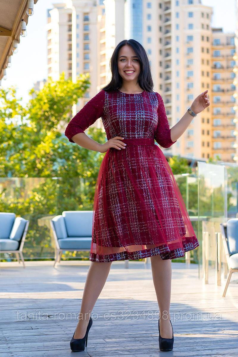 Повседневное платье 9168e batal Бордо XL(р)