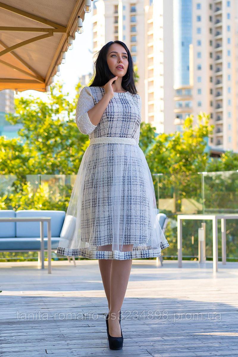 Повседневное платье 9168e batal Молочный 2XL(р)
