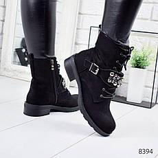 """Ботинки женские демисезонные """"Folex"""" черного цвета из эко замши. Ботильоны женские. Ботильоны демисезон, фото 3"""