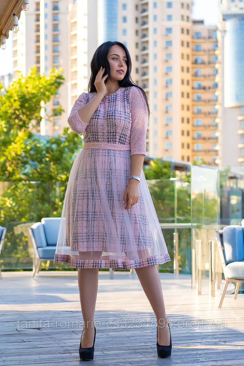 Повседневное платье 9168e batal Розовый XL(р)