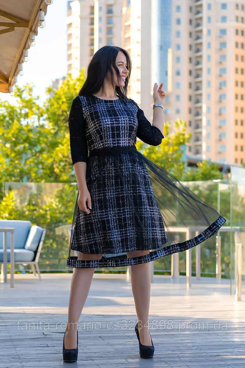 Повседневное платье 9168e batal Чёрный 2XL(р)