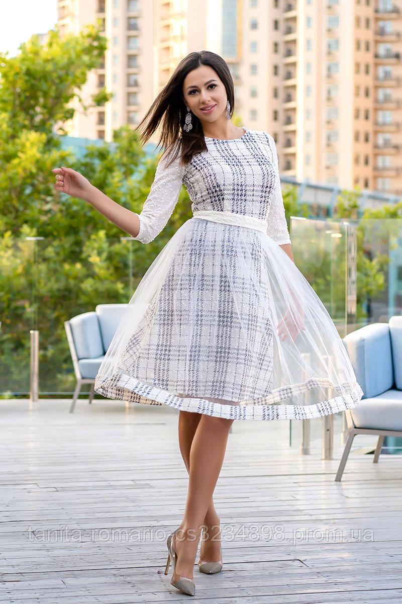 Повседневное платье 9168e Молочный S(р)