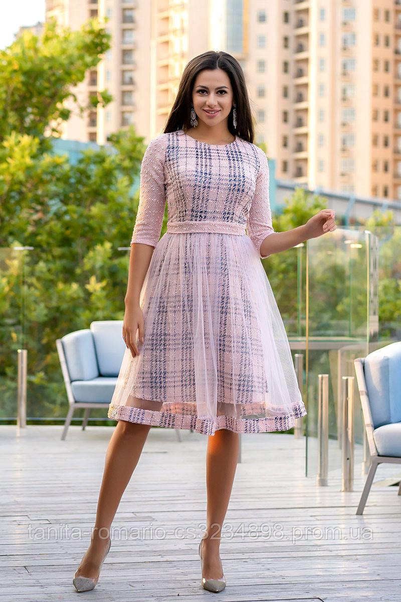 Повседневное платье 9168e Розовый S(р)