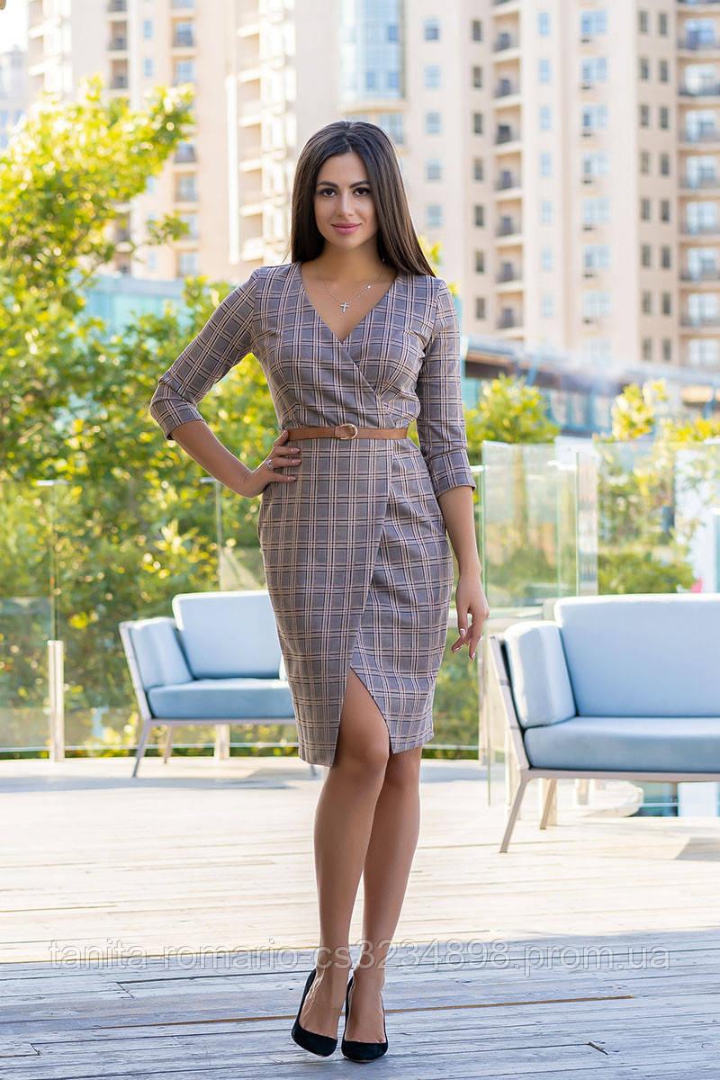 Повседневное платье 9184e Бежевый S(р)