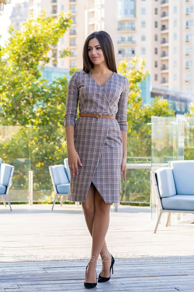 Повседневное платье 9184e Серый S(р)