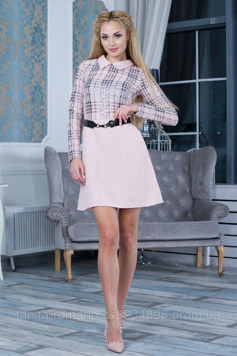 Повседневное платье 7264e Розовый L(р)