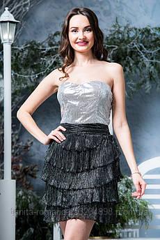 Платье 3386/6e Чёрный/серебро M(р)