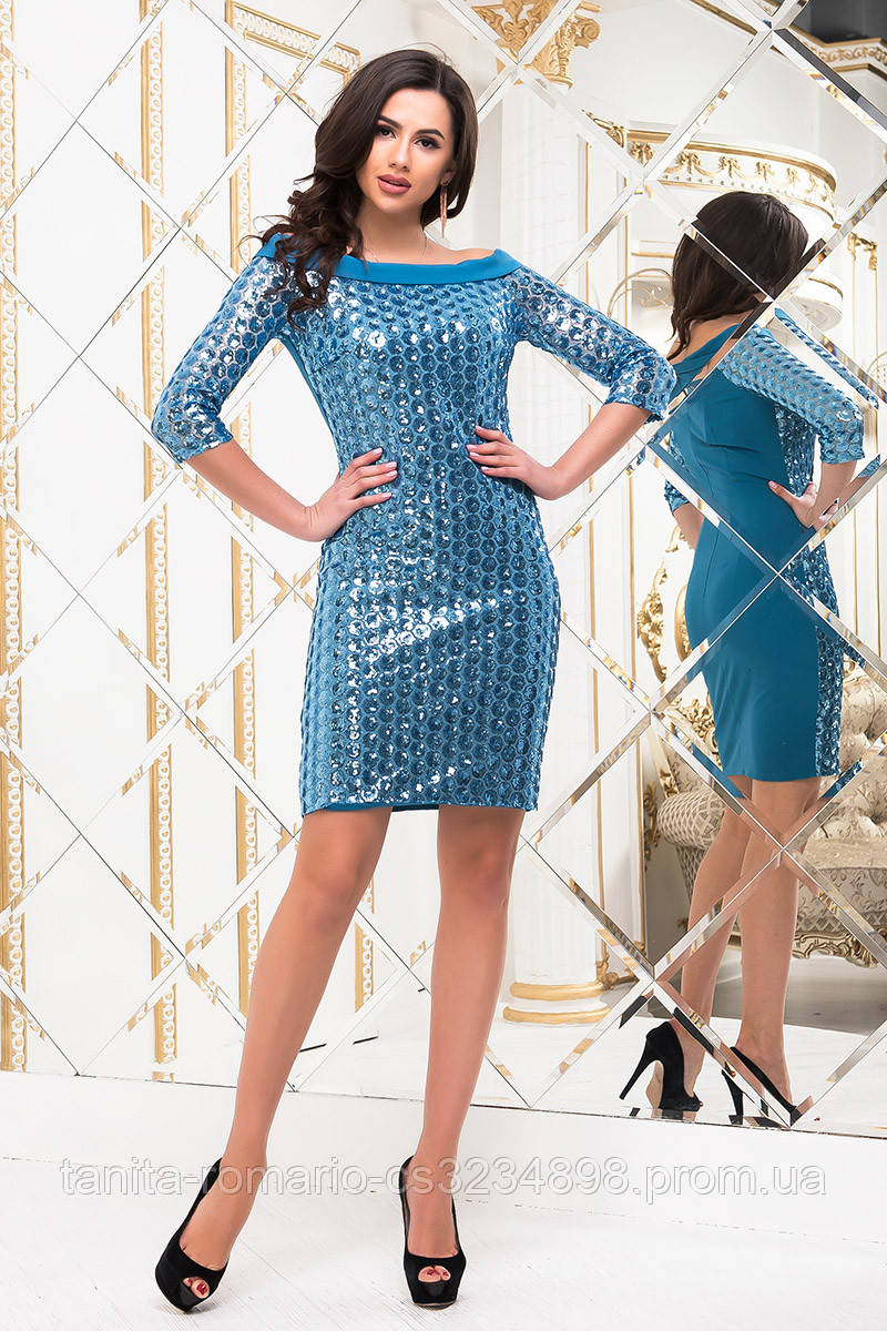 Коктейльное платье 6280e Бирюза L(р)