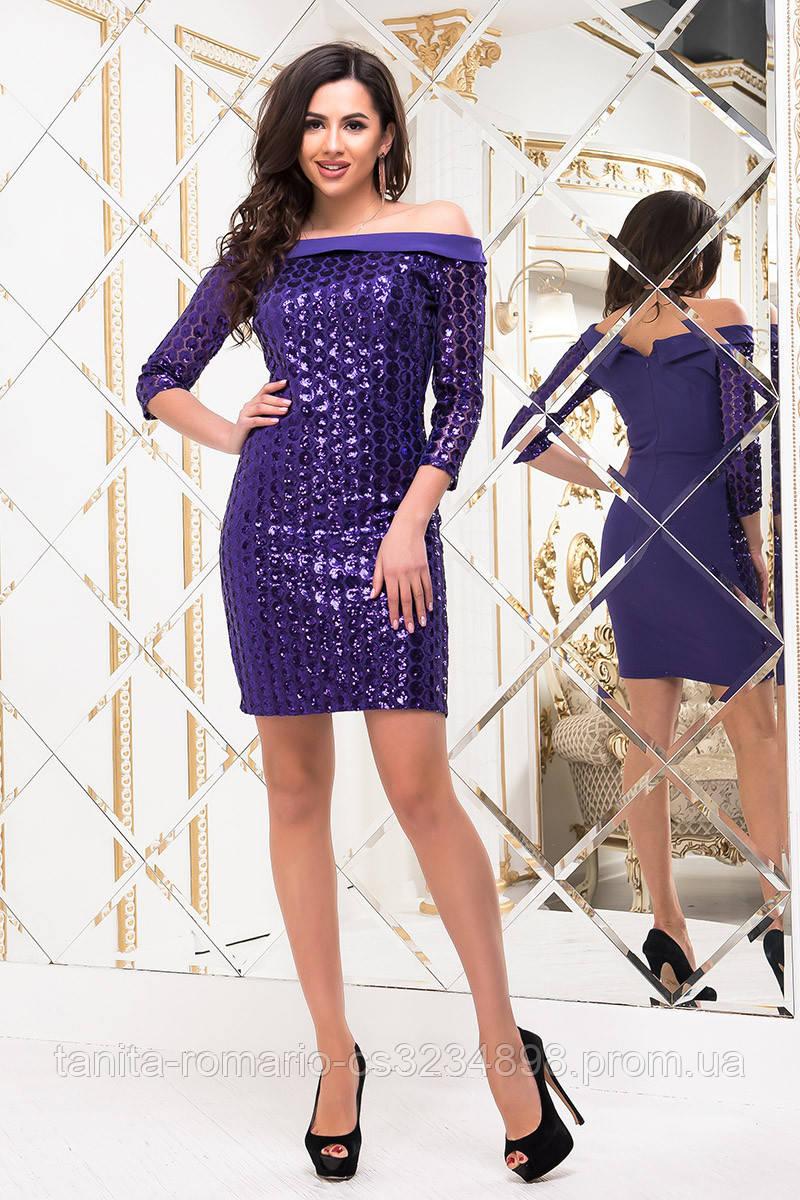 Коктейльное платье 6280e Сиреневый M(р)