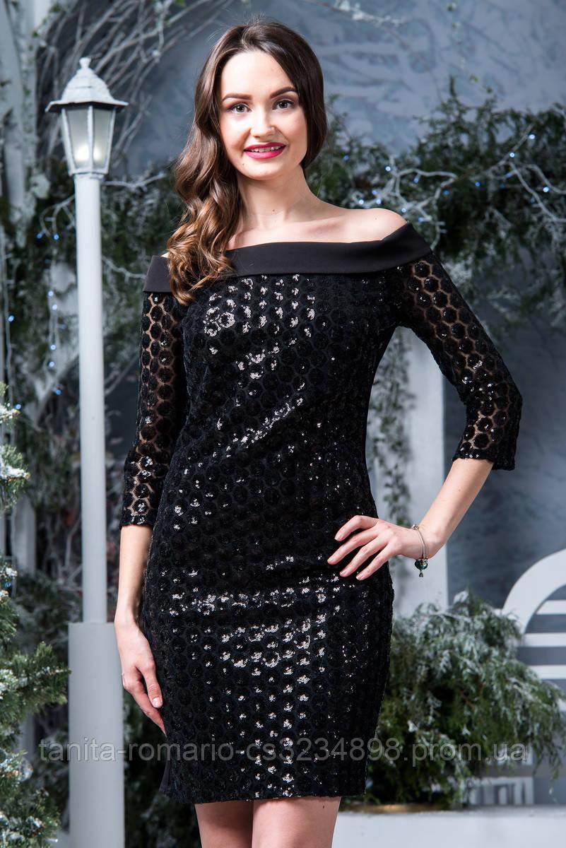 Коктейльное платье 6280e Чёрный S(р)