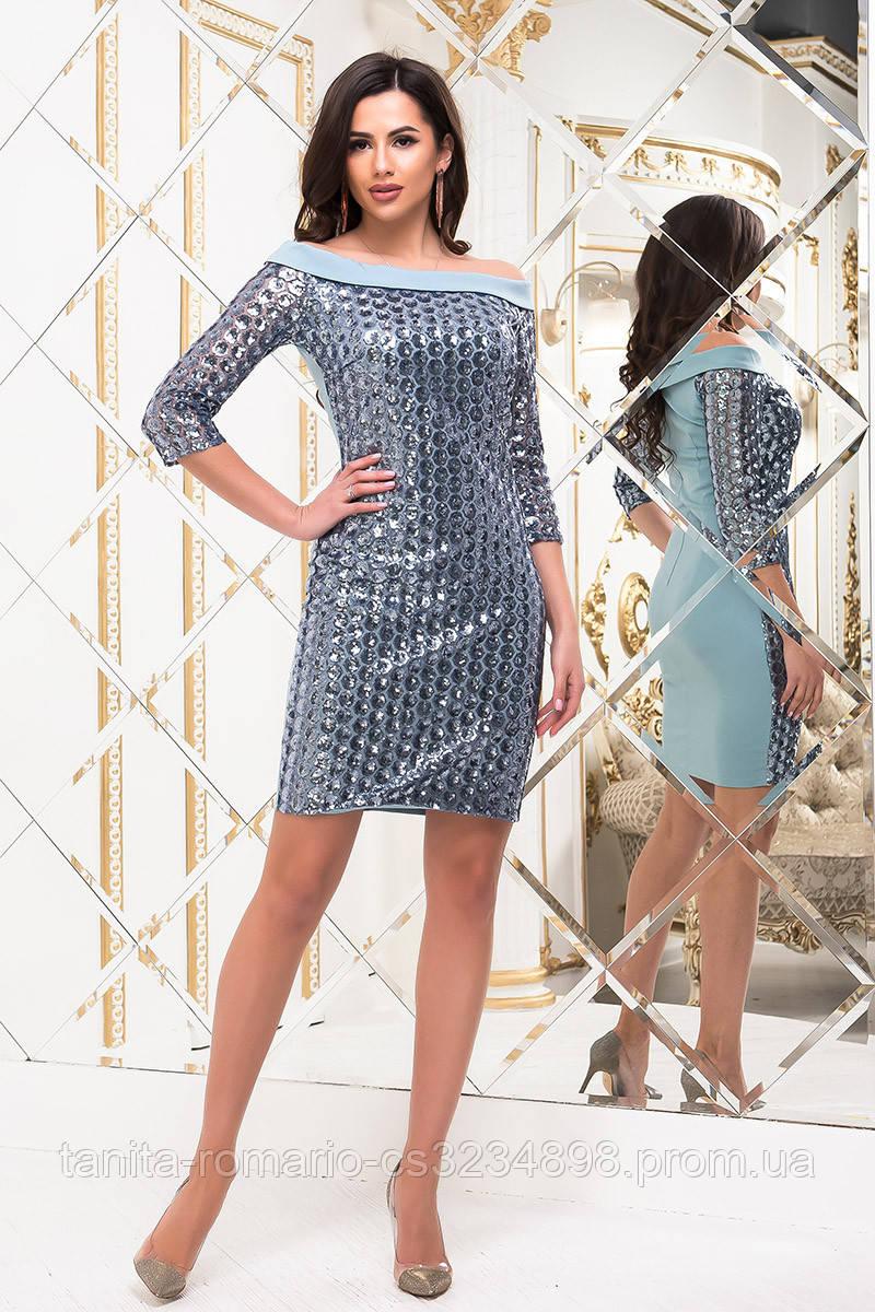 Коктейльное платье 6280e Серый M(р)