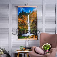 Настенный инфракрасный обогреватель картина Водопад с мостиком