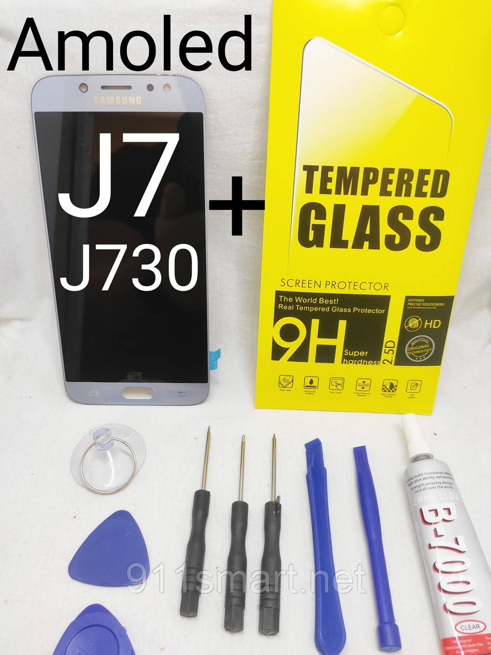 Дисплей Amoled экран для Samsung Galaxy J7 J730F / DS, J730FM silver серебристый