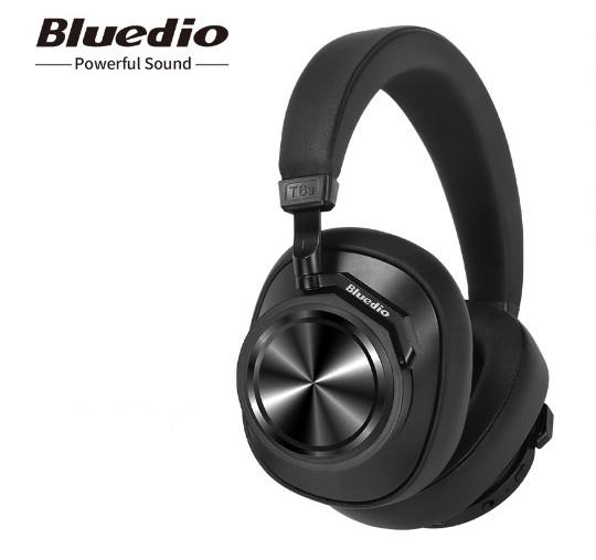 Навушники безпровідні Bluedio T6S з шумозаглушенням (чорні)