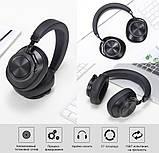 Навушники безпровідні Bluedio T6S з шумозаглушенням (чорні), фото 3