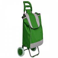Тачка сумка хозяйственная на колесах кравчучка металл 95см HLV MH-1897 Green