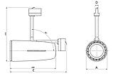 LED Регулируемый светильник с оптикой IP20, Световые технологии JET/T LED 50 B D25 4000K [1601000050], фото 3
