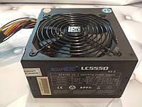 БЛОК Питания LC-POWER LC5550 на 550W с ACTIVE PFC модулем ATX 24+4 (8pin) на проц + 6pin (8 pin)для видео