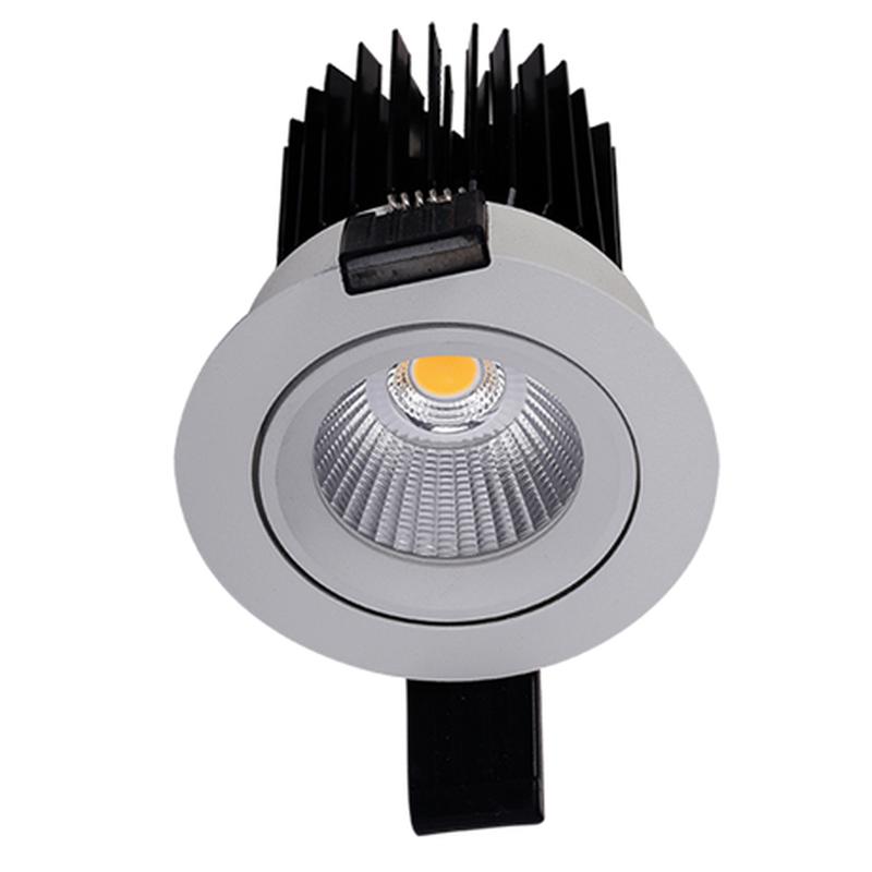 LED встраиваемый светильник IP20, Световые технологии EOS 18 WH D45 3000К [1693000540]