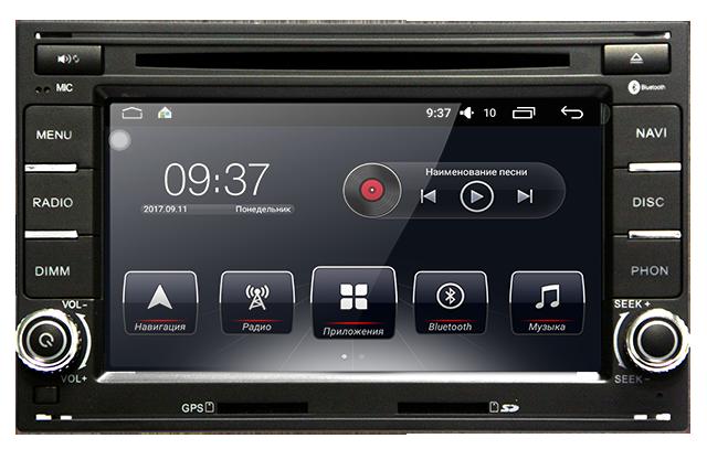 Штатная автомагнитола AudioSourceS T90-410A для Volkswagen Passat B5, Golf IV, T5 Transporter