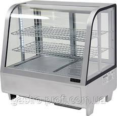 Витрина кондитерская холодильная 100 л серебристая YatoGastro YG-05022, фото 3