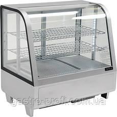 Витрина кондитерская холодильная 100 л серебристая YatoGastro YG-05022, фото 2
