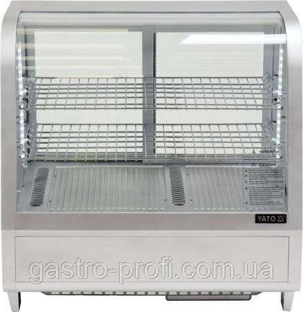 Витрина кондитерская холодильная 100 л серебристая YatoGastro YG-05022