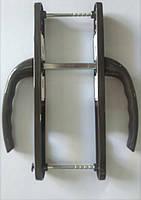 """Нажимной гарнитур """"OPERA"""" 25-85/200 мм c пружиной коричневый для ПВХ дверей (дверная ручка)"""