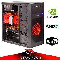 Недорогой игровой ПК ZEVS PC7750 + Разблокировка + Разгон +Игры!