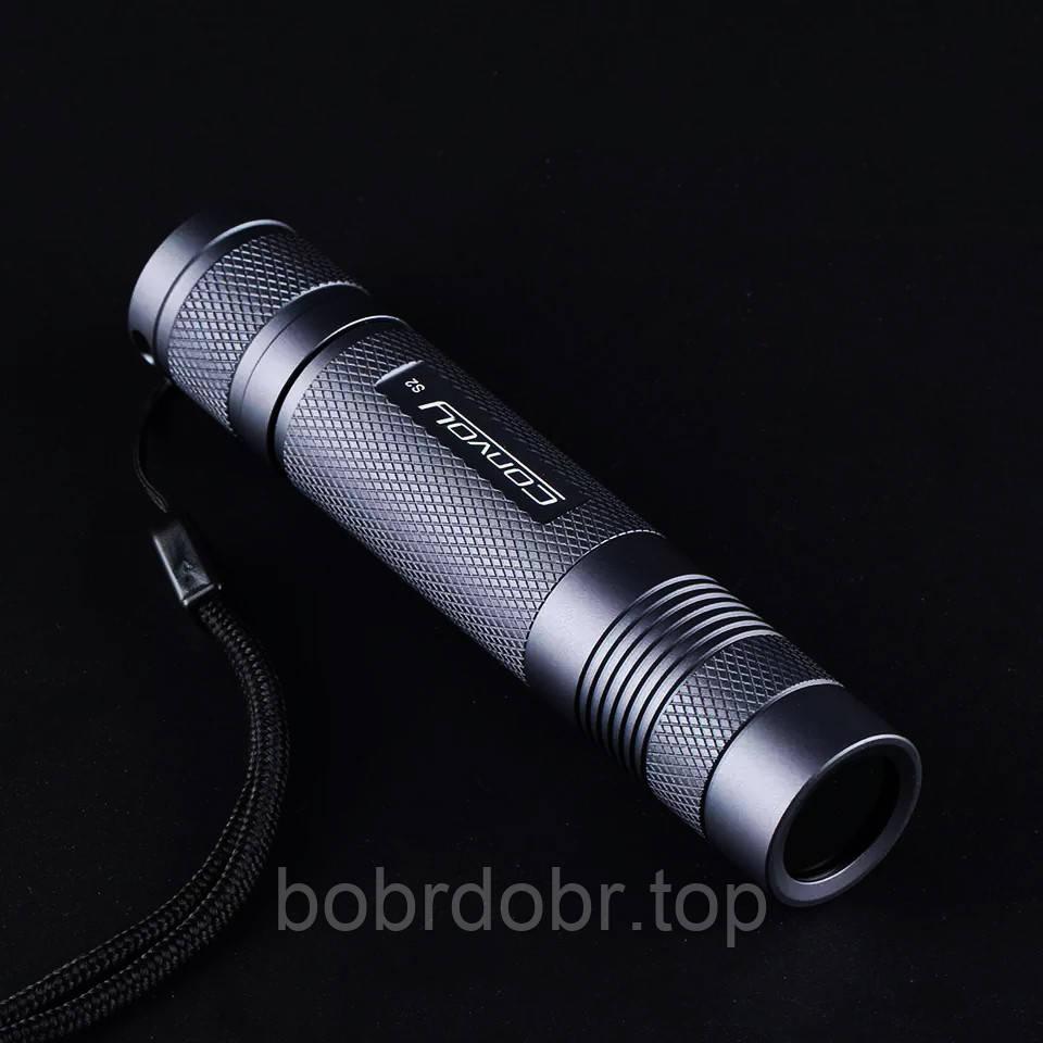 Мощный ультрафиолетовый фонарик Convoy S2 365нм 5W с фильтром Вуда
