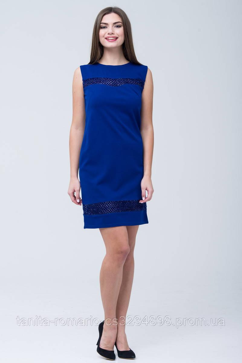 Вечернее платье 7274e Электрик S(р)