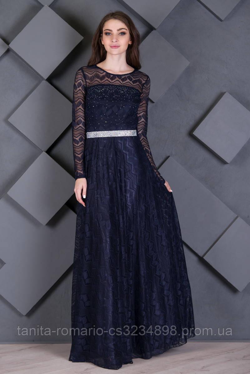 Вечернее платье 7226e Синий L(р)