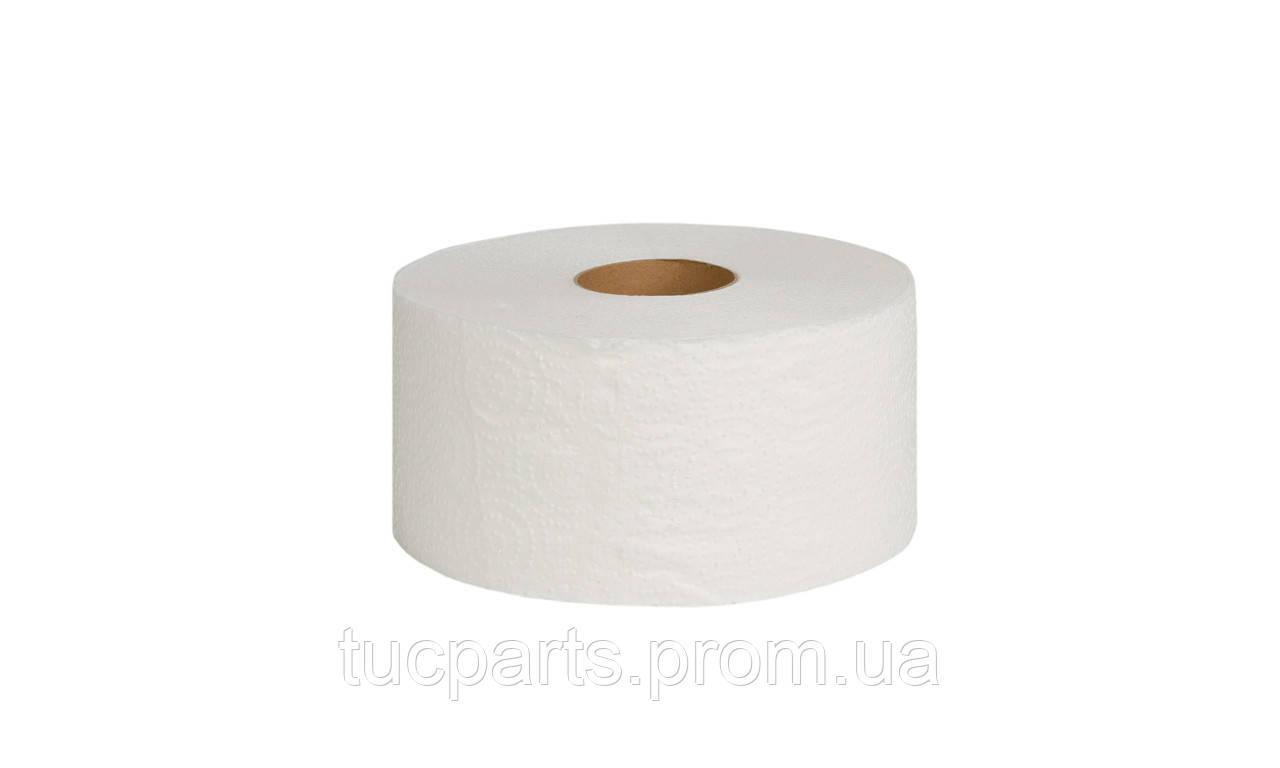 Туалетная бумага Джамбо (Jumbo) двухслойная белая с перфорацией,100 в рулоне