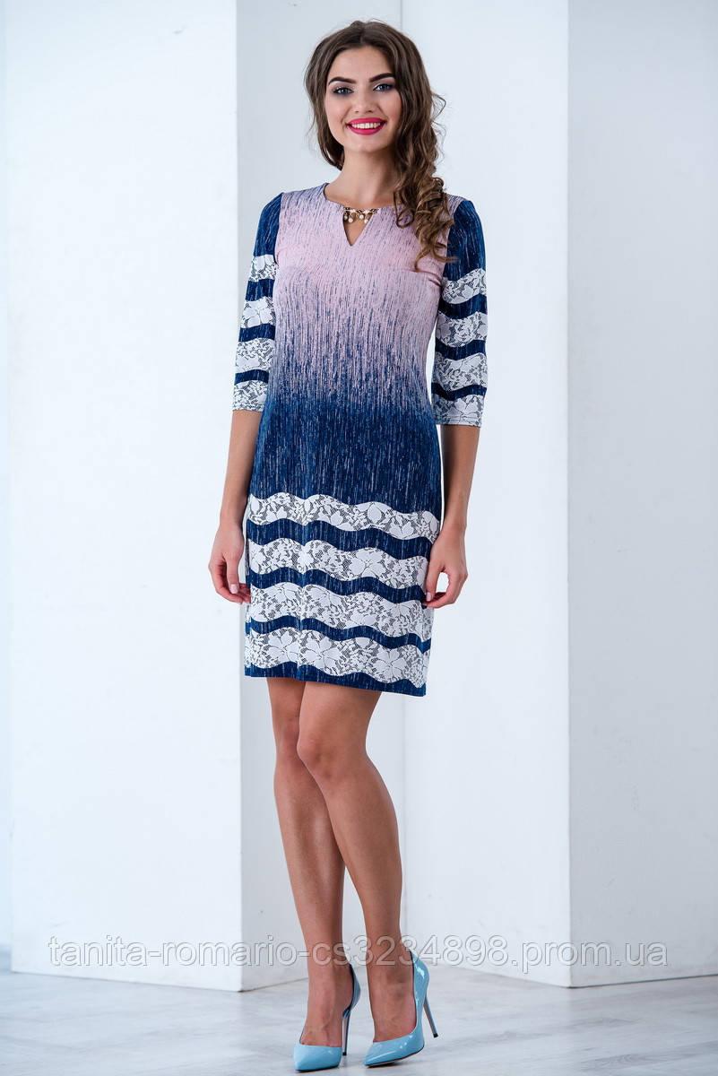 Повседневное платье 6181e Розовый L(р)