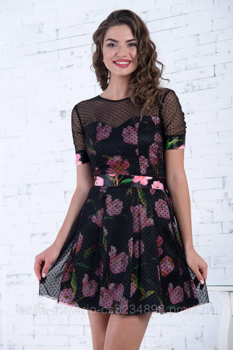 Коктейльное платье 7050e Розовый L(р)