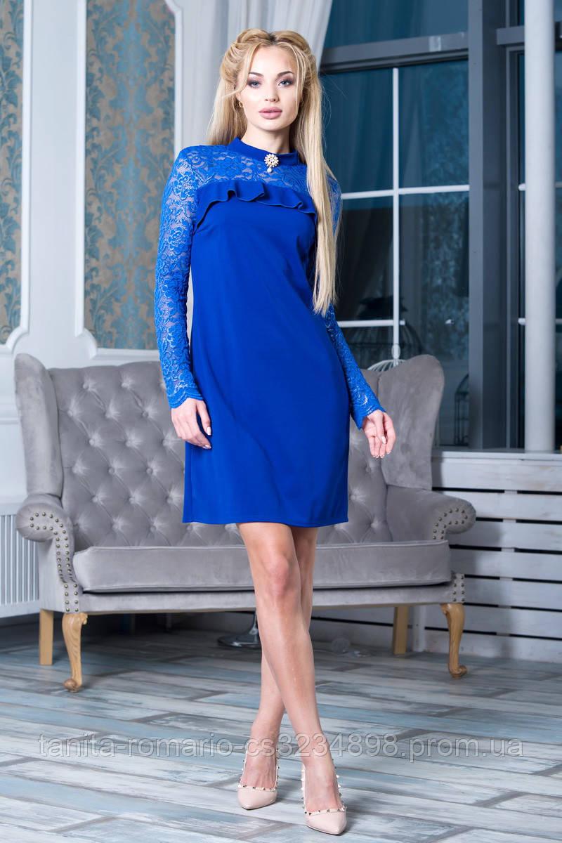 Коктейльное платье 7245e Электрик S(р)