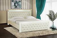 Кровать Ривьера 160х200 см (слоновая кость+патина золота)