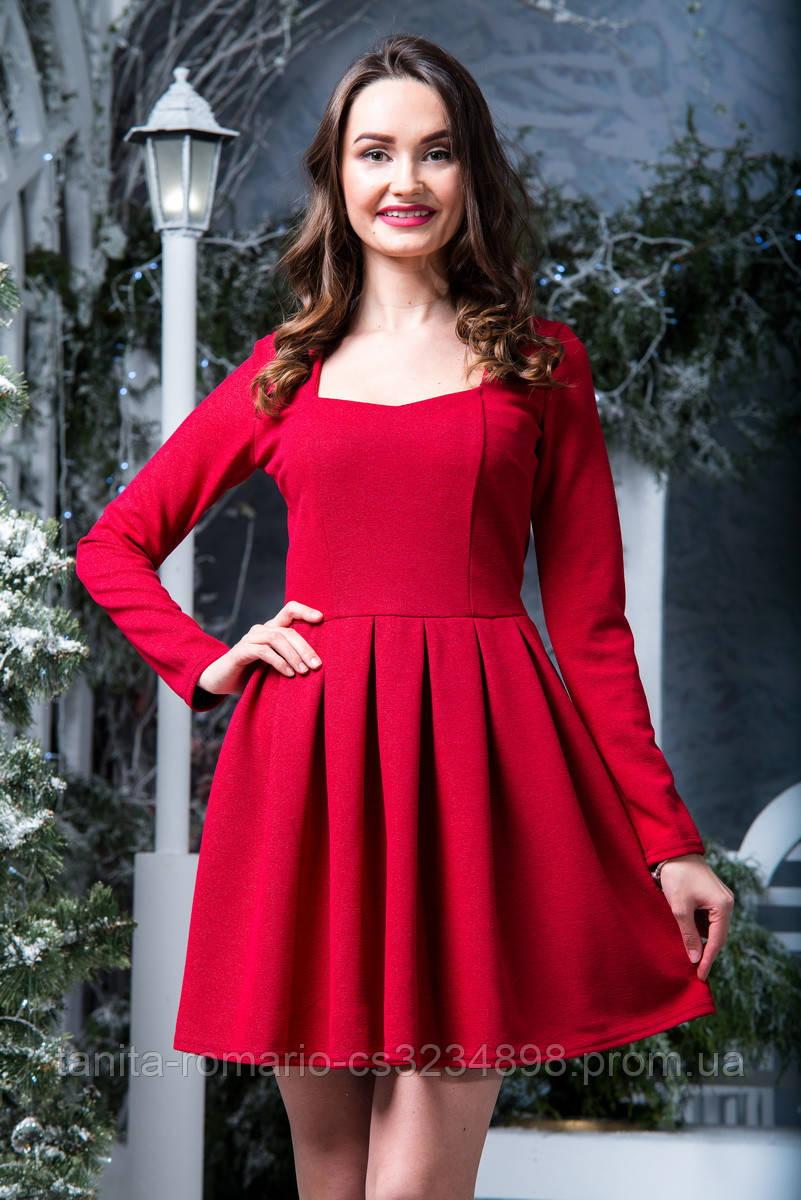Коктейльное платье 6274e Красный L(р)