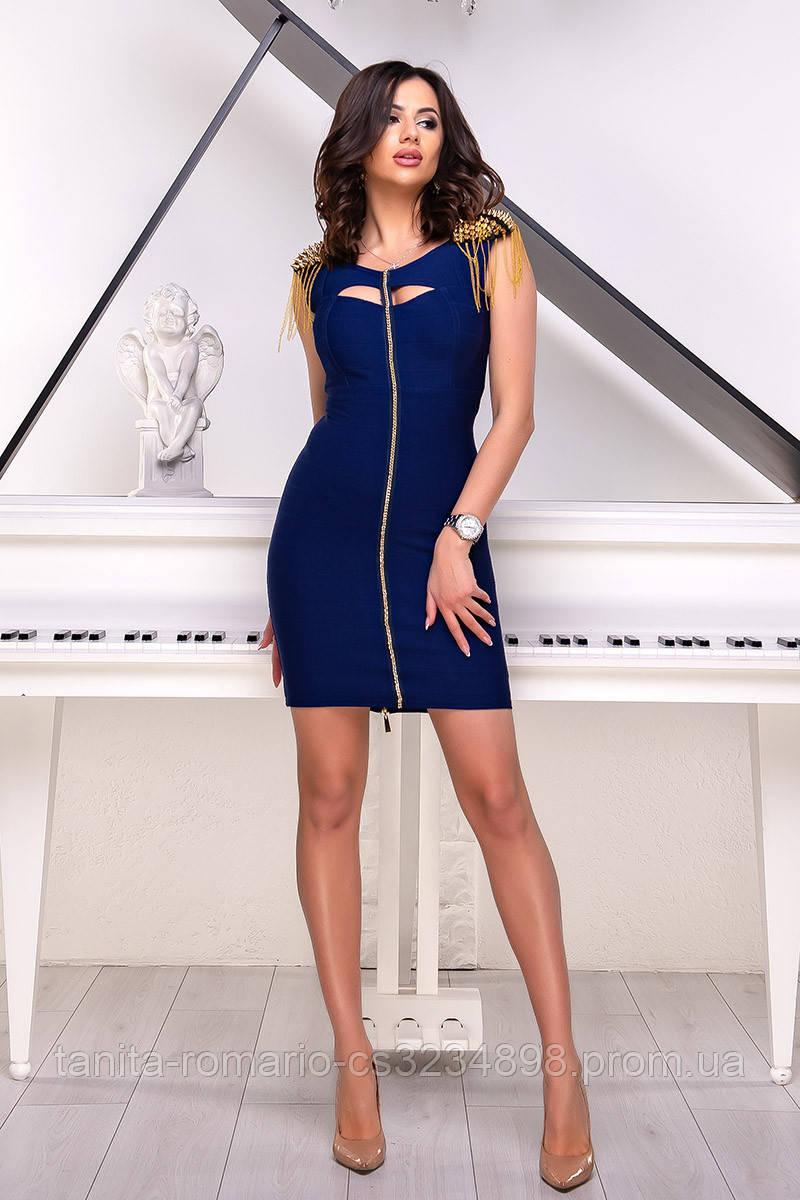 Коктейльное платье 3014e Синий S(р)