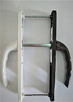 """Нажимной гарнитур """"OPERA"""" 25-92/200 мм c пружиной бело-коричневый для ПВХ дверей (дверная ручка)"""