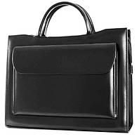 Деловая женская сумка из эко кожи Jurom черная