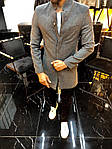 Мужское стильное пальто (темно-серое) - Турция, фото 6