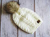Вязаная шапка с люрексом, фото 1