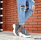 Женские ботинки серого цвета, из натуральной замши (в наличии и под заказ 3-14 дней), фото 3