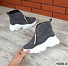 Женские ботинки серого цвета, из натуральной замши (в наличии и под заказ 3-14 дней), фото 6