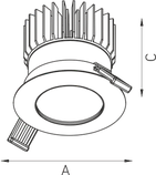LED встраиваемый светильник IP20, Световые технологии QUO 13 BL D45 4000K [1507000220], фото 3