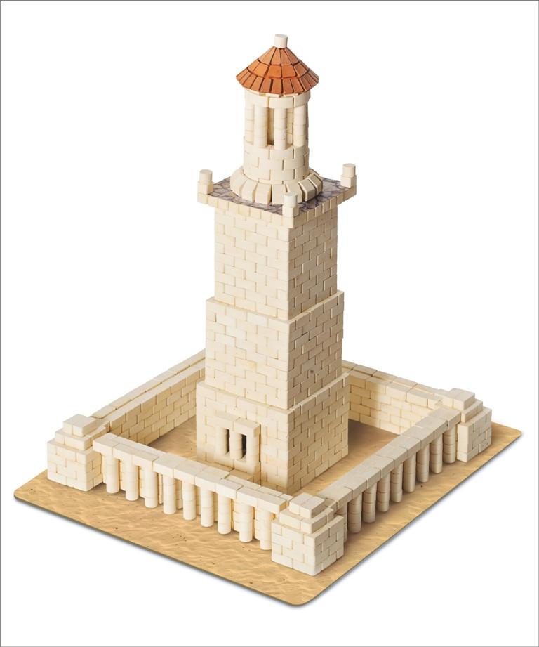 Александрийский маяк | Конструктор из мини-кирпичиков | 970 деталей | Країна замків та фортець