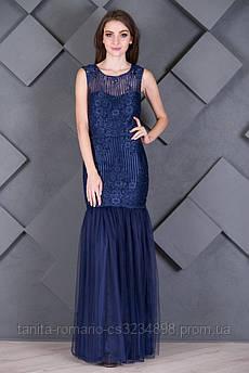 Выпускное платье 7010e Синий S(р)